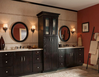 Shenandoah Cabinetry Craftsman Bathroom Seattle By