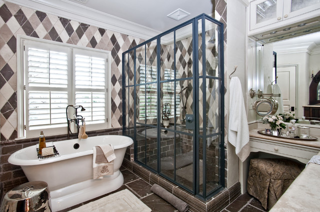 traditional bathroom by sherry hart