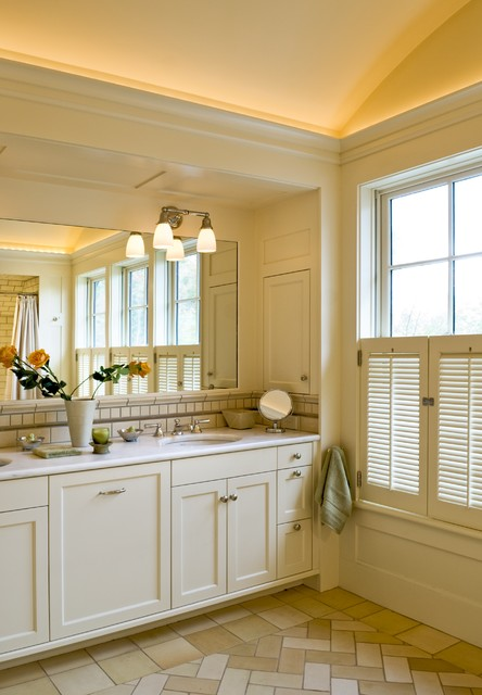Shingle style home in Hanover NH traditional-bathroom