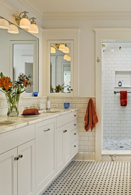 Shingle style home in Hanover NH traditional bathroom