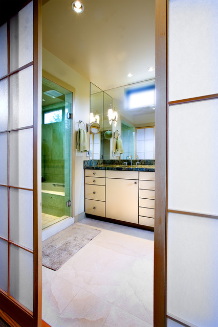Shoji Doors to Master Bathroom asian-bathroom