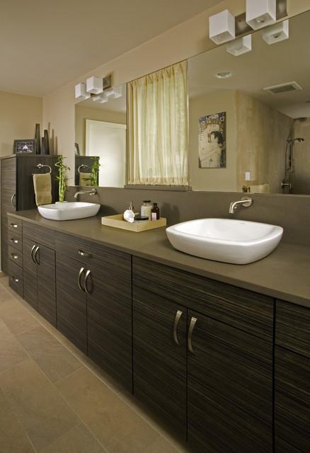 Popular Floating Bathroom Vanity With Bowls Sinks  Modern  Bathroom