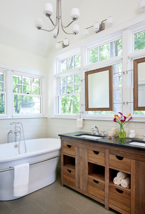 Bathroom Mirrors Over Vanity how to mount mirror over window?