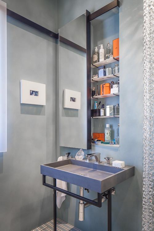 medicine cabinet with a sliding door