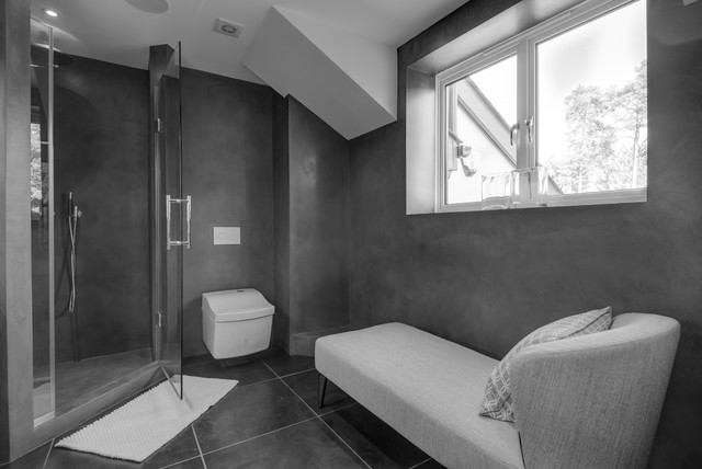 Erstaunlich Shower And Bathroom   Beton Cire Finish Contemporary Bathroom