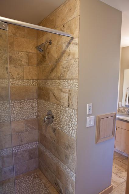 Shower & Laundry Chute contemporary-bathroom