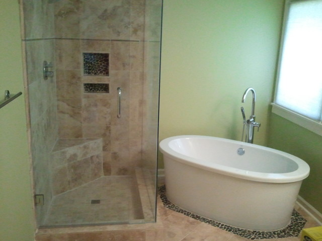 Shower And Stand Alone Tub