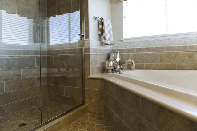 Shower and Tub Conversion modern-bathroom