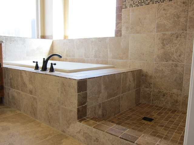 Ordinaire Shower And Tub Master Bathroom Remodel Traditional Bathroom