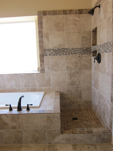 Shower And Tub Master Bathroom Remodel Traditional Bathroom Dallas By
