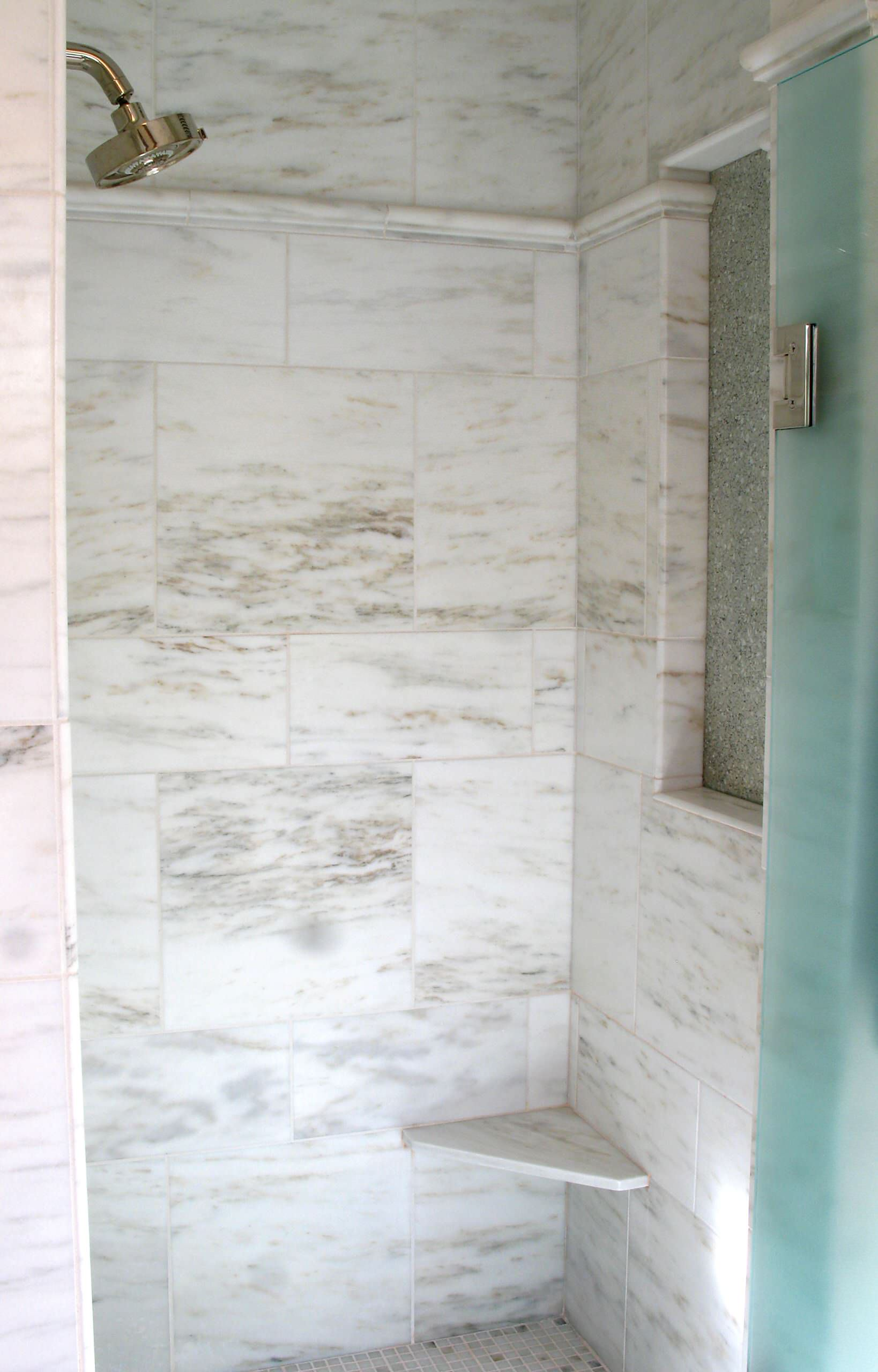 Shower Bench and Window