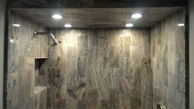 Shower Ceiling Tile Modern Bathroom Atlanta By