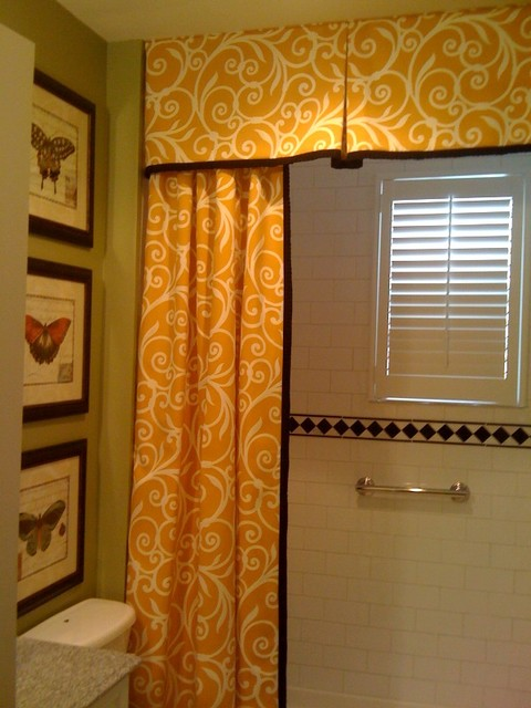 shower curtain and valance  traditional  bathroom  dc metro,