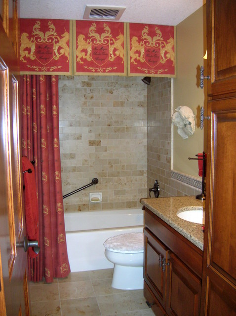 Shower Curtain With Valance Traditional Bathroom