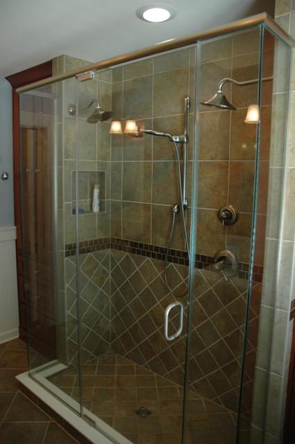 Shower Doors traditional-bathroom