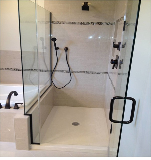 Shower enlarge Traditional Bathroom chicago by KITCHEN AND BATH AUTHO