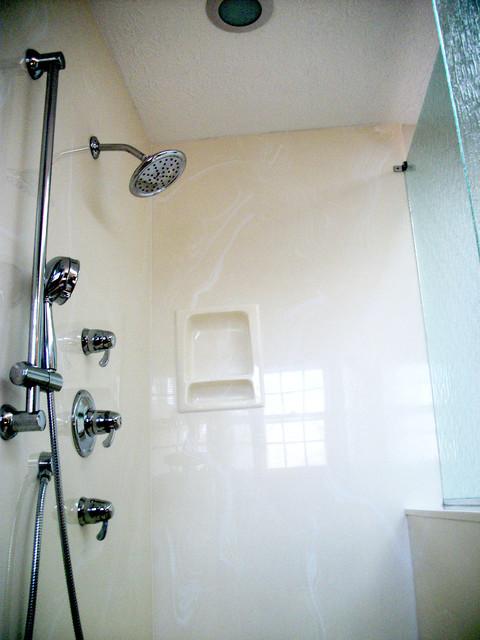 Shower enlargement akron oh contemporary bathroom Bathroom remodeling akron ohio