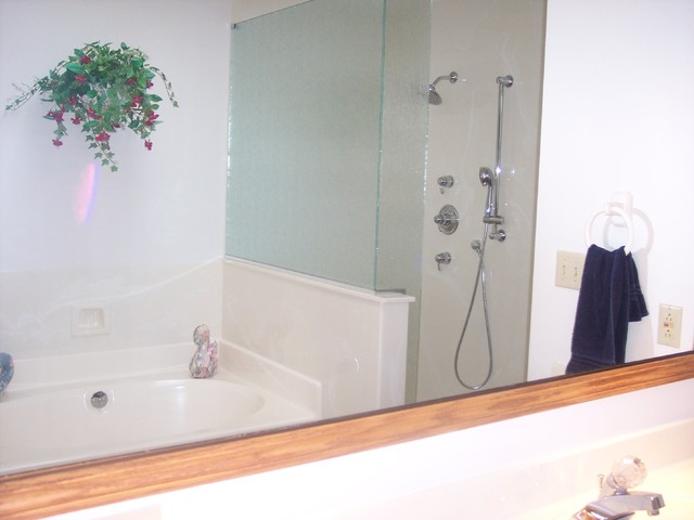 Shower Enlargement, Akron OH contemporary-bathroom