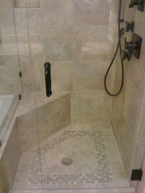 Shower Floor Design traditional-bathroom