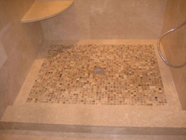 Shower floor traditional bathroom philadelphia by stonemar natural stone company llc Natural stone bathroom floor