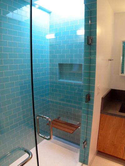 Shower contemporary-bathroom