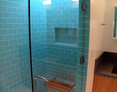 Shower contemporary-bathroom