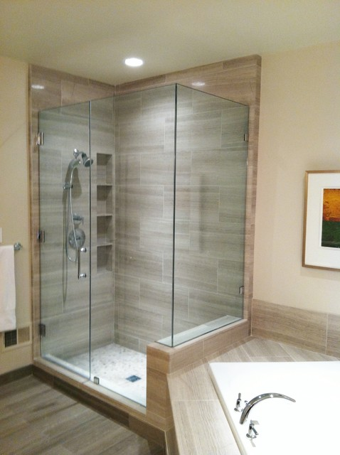Shower contemporary bathroom dc metro