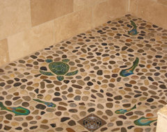 Shower Install eclectic-tile