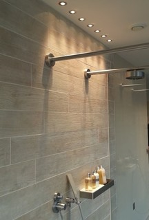 Shower lights at the lakes contemporary bathroom for 1915 bathroom photos