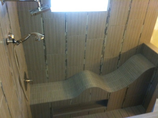 Shower Lounger Contemporary Bathroom Raleigh By