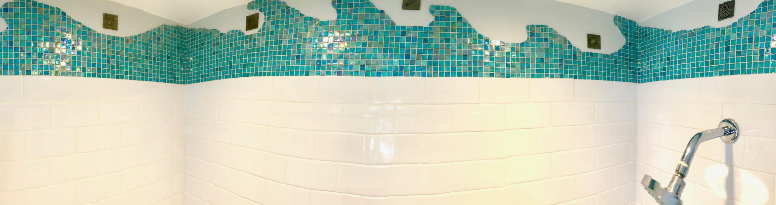 Shower mural detail