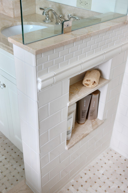 Shower Niche Traditional Bathroom chicago by