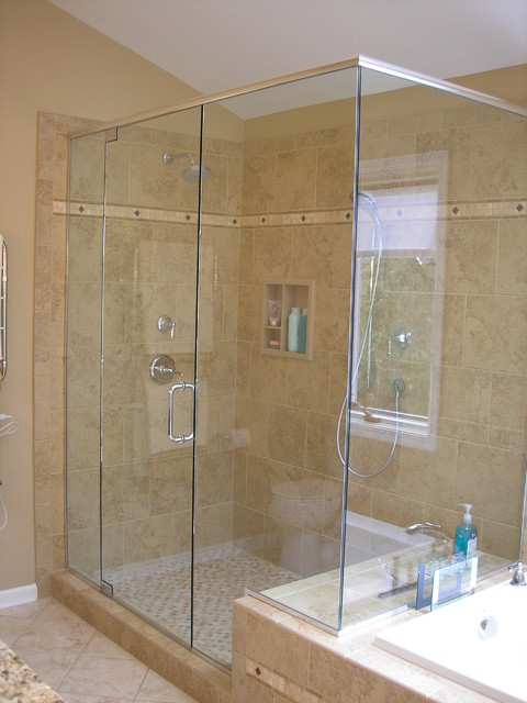 shower traditional bathroom