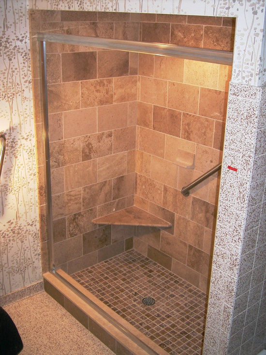 Mediterranean stand up shower home design photos decor for Stand up shower ideas
