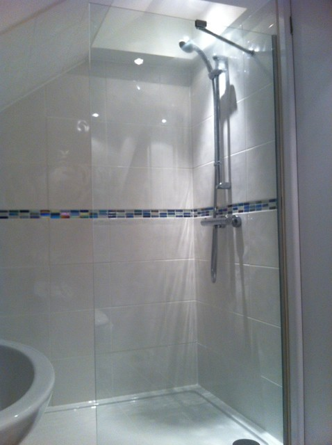 Shower Room In Attic Clarkston Glasgow Traditional Bathroom Glasgow By Glenlith