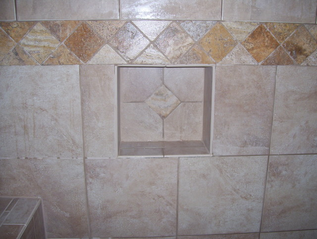 Shower Shampoo Box Inserts Traditional Bathroom Kansas