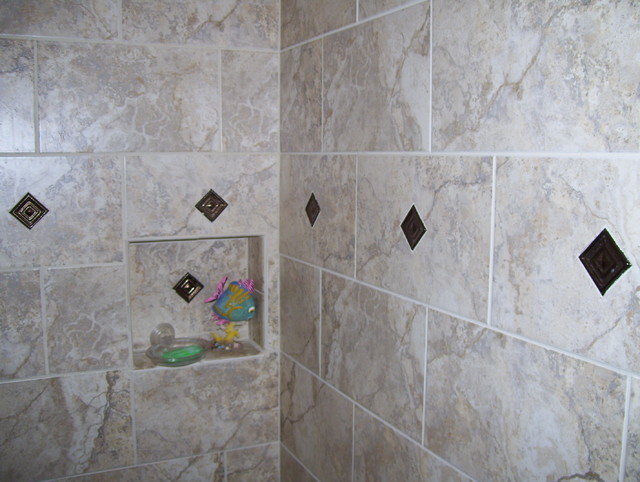 Shower Shampoo Box Inserts Traditional Bathroom