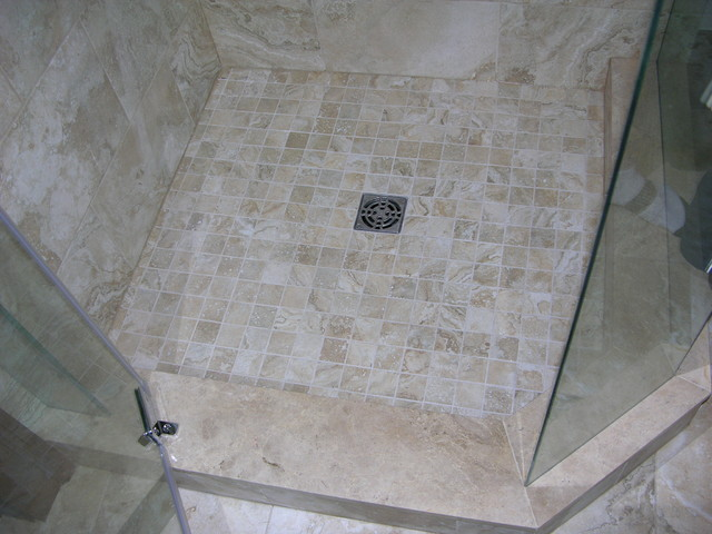 Shower stall bathroom renovation contemporary bathroom toronto by caledon tile bath Tile shower stalls