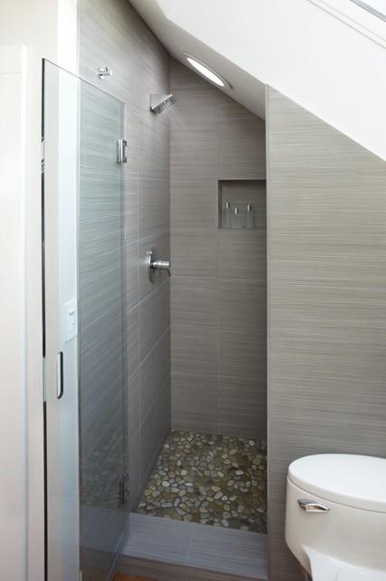 Shower stall modern-bathroom