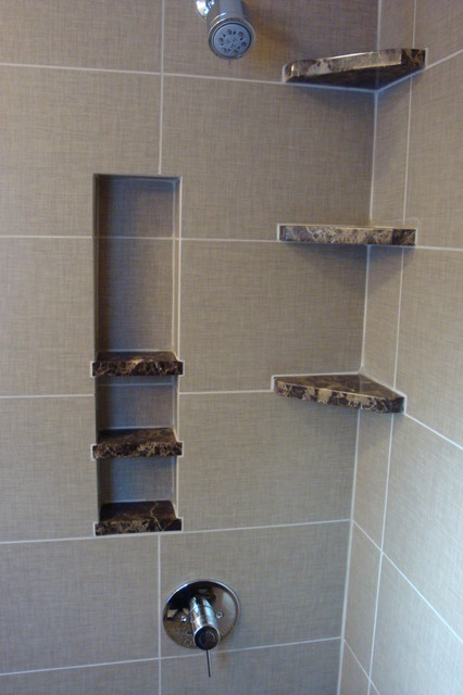 Shower Storage Built In Bathroom Detroit By Steward Creations Inc