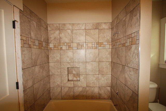 Shower surround traditional-bathroom