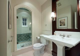 Pedestal Sink Back Splash Ideas Please