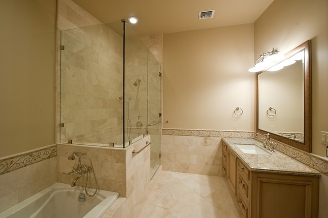 Shower Tub And Tile In Authentic Durango Veracruz Traditional Bathroom