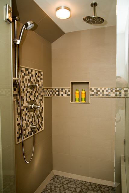 Bathroom Design Shower Over Bath : Shower tub bathroom ideas traditional