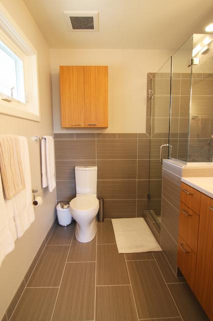 Gray Master Bath Remodel Modern Bathroom Richmond