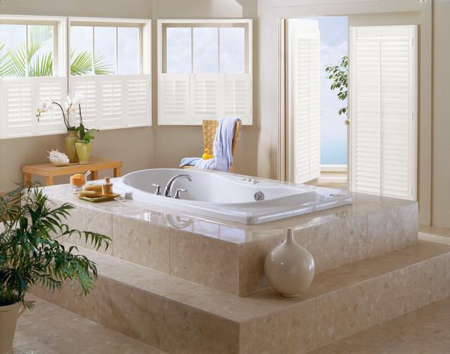 Shutters transitional-bathroom