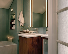 Silver modern bathroom