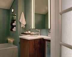 Silver contemporary-bathroom