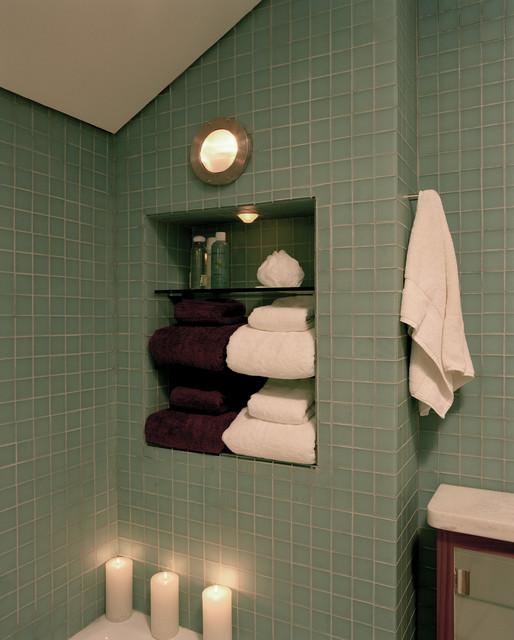 Silver modern-bathroom