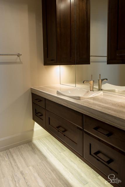 Silver Travertine Bathroom - Contemporary - Bathroom ...